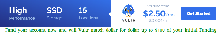 Vultr SSD Cloud Hosting Provider