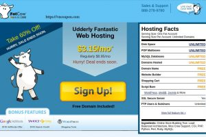 Fatcow Secret Offer – 60% off Unlimited Hosting only $3.15/month – Free Domain Name + $100 Ad Credits for Google, Yahoo! & Bing