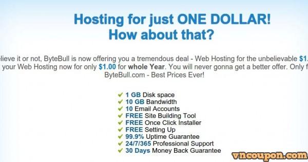 ByteBull – One Dollar Web Hosting
