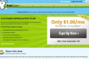 Fatcow Secret Offer –  Unlimited Hosting only $1/month