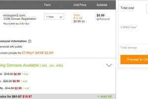 GoDaddy – Only $0.99 domain .com registration Sep 2014