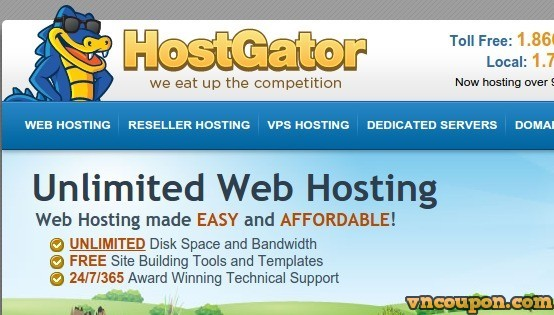 Hostgator – Web Hosting 75% off coupon September 2014