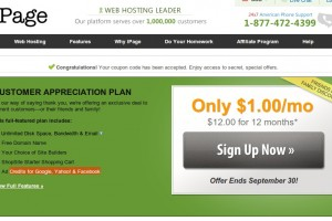 iPage – Web Hosting only $1/mo & Ad Credits for Google & FB