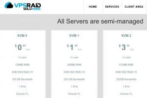 VPSRAID Solutions – KVM SSD VPS – Low price from 6$/yr