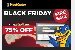Hostgator – Black Friday 2014 Offer 75% off All Hosting Plan