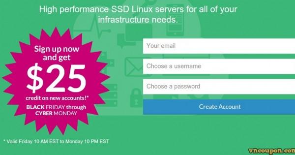 [Black Friday 2014] Linode – get $25 credit for SSD Cloud Hosting