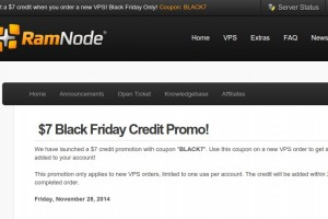 [Black Friday 2014] Ramnode – get $7 credit promo