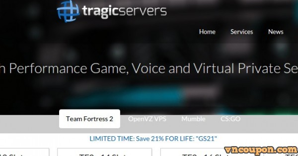 TragicServers – OpenVZ Special VPS from $6/yr – Asian Optimized IPs