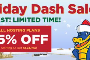 Hostgator – The Holiday Dash Sale is back – 75% off New Shared Hosting
