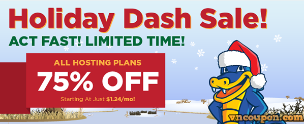 Hostgator – The Holiday Dash Sale is back – 75% off New Shared Hosting
