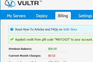 [Cyber Monday 2014] Vultr Promo Specials – Get $25 free in new funds