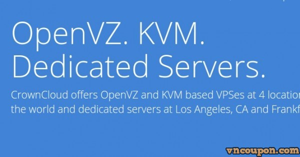 CrownCloud – 3GB RAM OpenVZ VPS – $30/Year Deal Back in Los Angeles