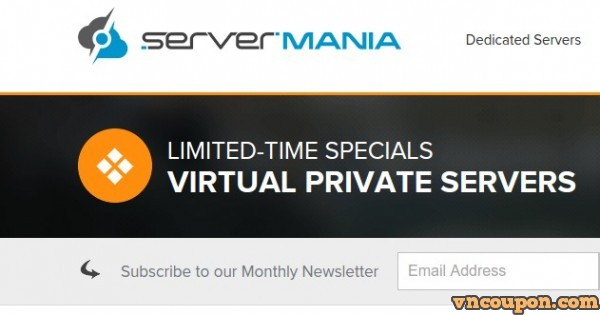 ServerMania Special Plans – 2GB RAM/ 50GB SSD/ OpenVZ SSD VPS only $39/year