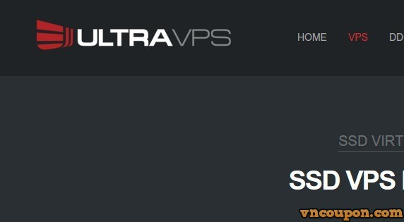 UltraVPS – 50% off KVM SSD VPS – DDoS Protection