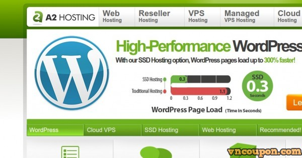A2 Hosting – Fast WordPress Hosting – 51% off promotion
