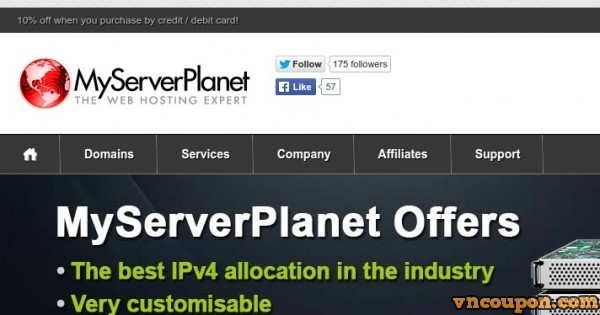 MyServerPlanet – com, .uk, .co.uk and .net – $2.73/year limited time offer