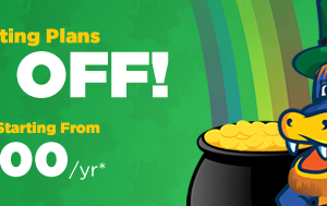 HostGator – St. Patrick's Day Sale – 55% Off Shared Hosting