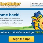 Hostgator – 75% off all shared hosting plans – Welcome Back Special Promotions