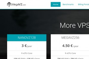 MegaVZ – 1GB RAM OpenVZ VPS only €5/year with NAT IPv4