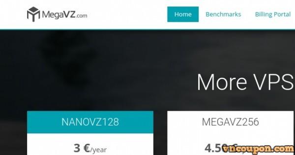 MegaVZ – 1GB RAM OpenVZ VPS only €5/year with NAT IPv4