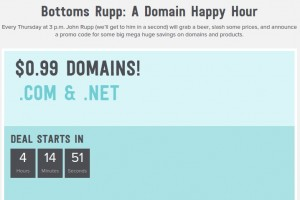 Name.com – Domain Happy Hour Sale- only $0.99 .COM/.NET