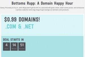 Name.com – Domain Happy Hour Sale- only $0.99 .COM/.NET