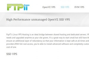 FtpIT –  OpenVZ SSD VPS – 2GB RAM + 4 Cores + 20GB SSD Storage – 5.99 USD per month in New York