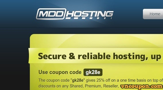 MDDHosting – 65% OFF Coupon Professional Web Hosting
