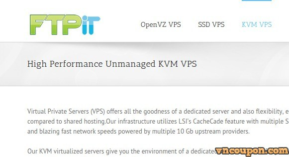 FtpIT Special Promotion  – KVM VPS 4 cores + 2GB RAM only $6 per month in Montreal, Canada.