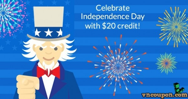 Linode offering $20 free credit for Cloud VPS on Independence Day