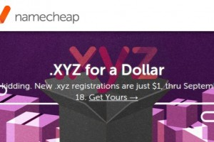 NameCheap – Domain .xyz registrations only $1 First Year (Now just 0.88 USD)