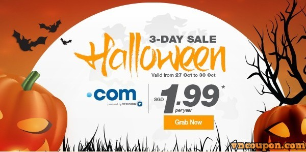Halloween 2015 Domain Promo Codes & Discount start from $0.99