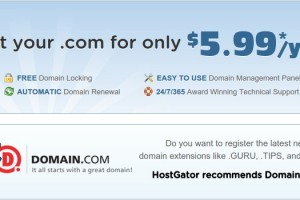 HostGator – Get your .com domain for only $5.99/year