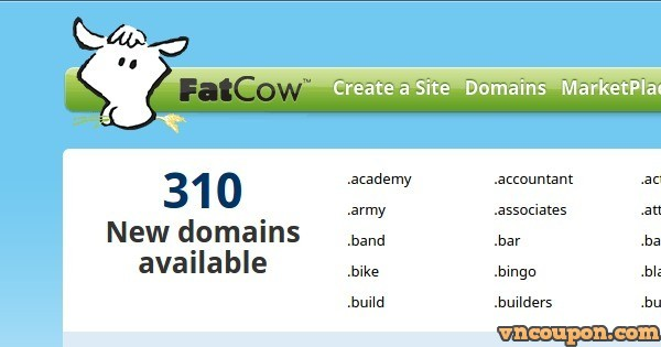 FatCow – .COM & .NET Registration only $5.99 for first year