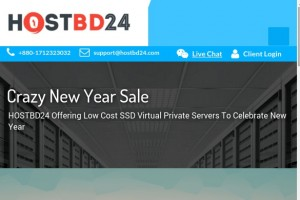HOSTBD24 – Crazy Offers VPS from $5/Year – Asia Optimized Network – Free DDos Protection