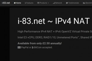 i-83.net – High Performance IPv4 NAT VPS – New Location New Delhi, India & Singapore from £2.50/year – Unmetered Port