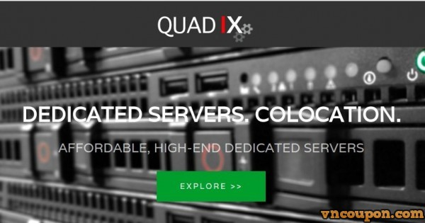 QuadIX – Dedicated Server Special from $10 USD – Intel CPU / 4 GB Ram / 500 GB Disk / 1 Gbps Port