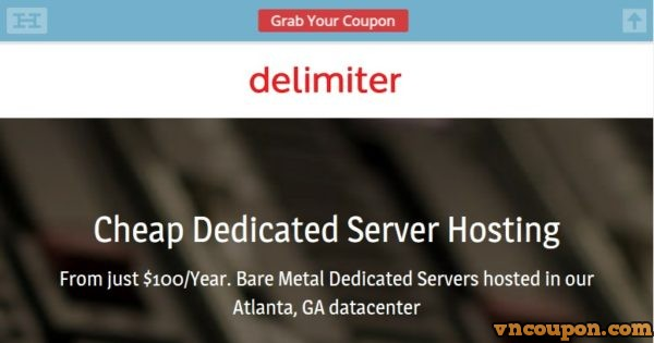 Delimiter Special Dedicated Server only $100/year - VN Coupon