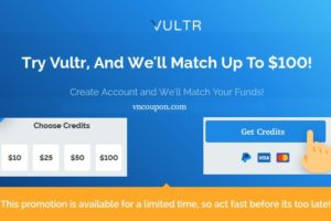 Vultr-Match-Up-To-100-USD-Free-Credit