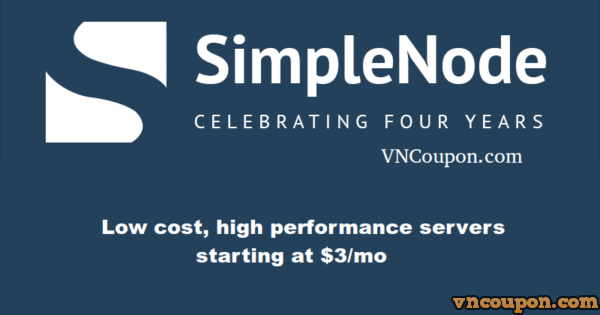 Celebrating Four Years of SimpleNode – 30% OFF Promo Code