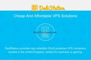 Dedistation – DDoS Protected UK VPS Offers 2GB RAM $15 Yearly