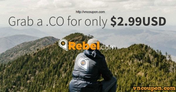 Rebel.com – Grab a .CO domain for only $2.99USD