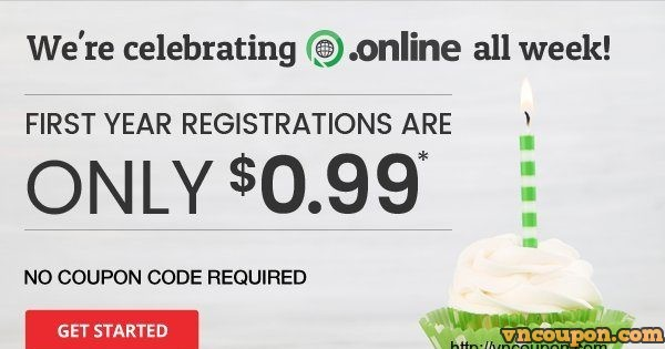 To celebrating the 1-year birthday of the .online TLD – Unlimited first-year registrations for just $0.99!