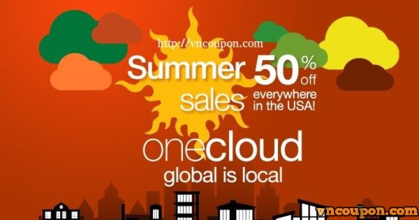 OneCloud – One-click App! 50% OFF Summer Sales on all plans in the USA