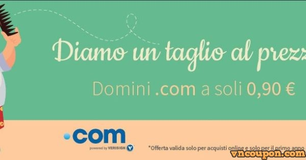 Register.it – Get .COM Domain Name For Only 0.9€
