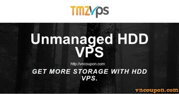 tmzVPS – Unmanaged VPS with 2GB RAM/ 50GB HDD/ 2TB Bandwidth only $6.8/month annually pay
