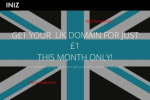 INIZ – Get your .UK Domain for just £1 for first year – No limits