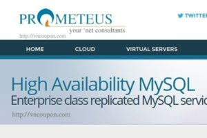 Prometeus lauching High Availability MySQL Service for businesses – 20% OFF Promo Code