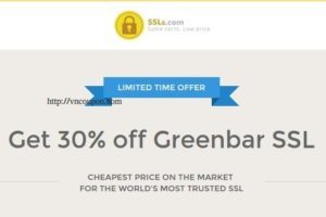 Get 30% off Greenbar EV SSL from SSLs.com