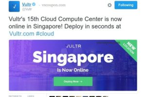Vultr's Cloud Services is now online in Singapore! Free $50 Gift Code for 60 days